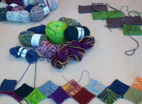 Sock yarn blanket 009