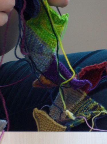 Sock yarn blanket 020
